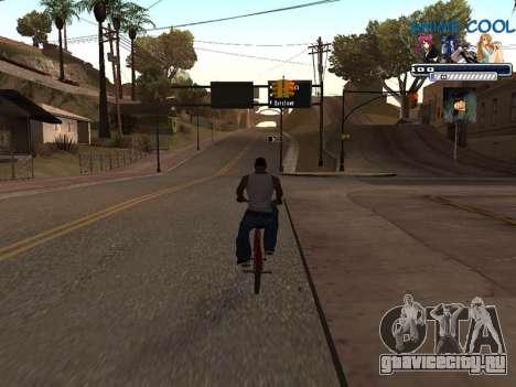 Anime C-HUD для GTA San Andreas третий скриншот