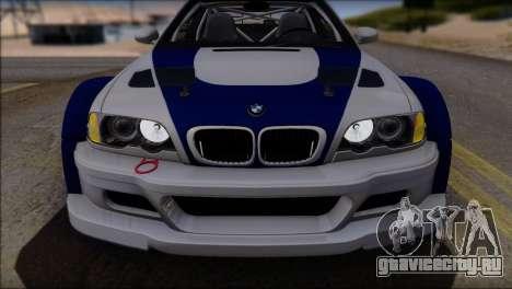 BMW M3 E46 GTR для GTA San Andreas двигатель