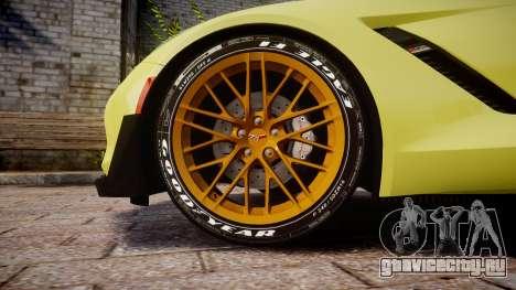 Chevrolet Corvette Z06 2015 TireGY для GTA 4 вид сзади