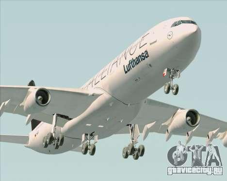 Airbus A340-300 Lufthansa (Star Alliance Livery) для GTA San Andreas двигатель