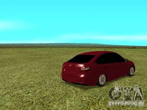 Lada Granta Kalina 2 для GTA San Andreas вид справа