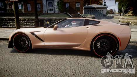 Chevrolet Corvette Z06 2015 TireBr2 для GTA 4 вид слева