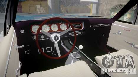 Pontiac GTO 1965 Flames для GTA 4 вид сзади