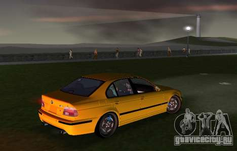 BMW M5 E39 для GTA Vice City вид сзади