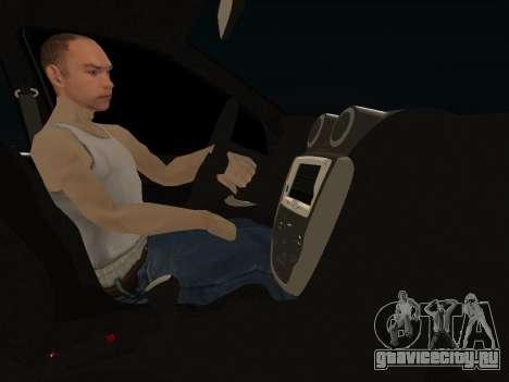 Lada Granta Kalina 2 для GTA San Andreas вид изнутри