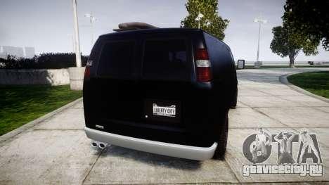 GTA V Bravado Rumpo для GTA 4 вид сзади слева