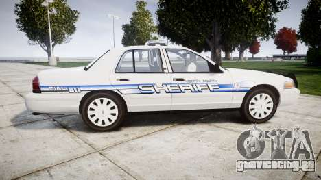 Ford Crown Victoria [ELS] Liberty County Sheriff для GTA 4 вид слева