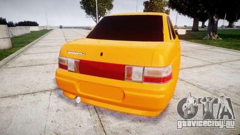 ВАЗ-2110 Bogdan rims1 для GTA 4 вид сзади слева