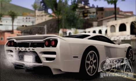 Saleen S7 Twin Turbo для GTA San Andreas вид слева