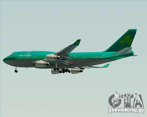 Boeing 747-400 Aer Lingus для GTA San Andreas вид изнутри