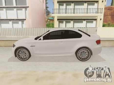 BMW 1M 2011 для GTA San Andreas вид сзади