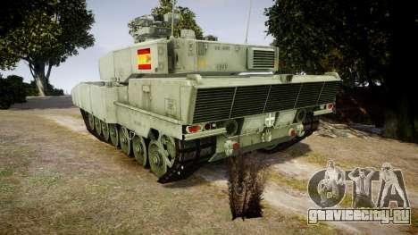 Leopard 2A7 ES Green для GTA 4 вид сзади слева