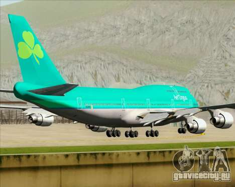 Boeing 747-400 Aer Lingus для GTA San Andreas вид сбоку
