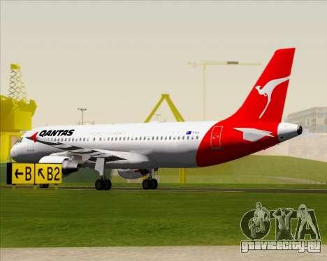 Airbus A320-200 Qantas для GTA San Andreas вид сверху