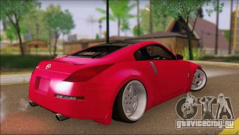 Nissan 350Z CAMBERGANG для GTA San Andreas вид слева