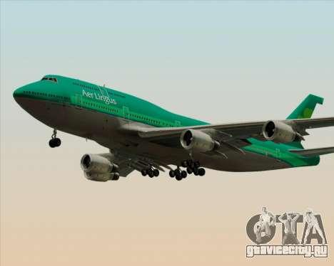 Boeing 747-400 Aer Lingus для GTA San Andreas колёса
