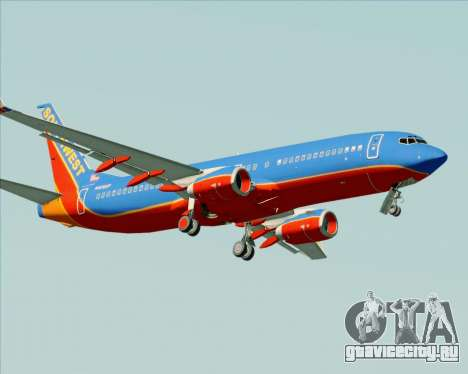 Boeing 737-800 Southwest Airlines для GTA San Andreas вид сверху