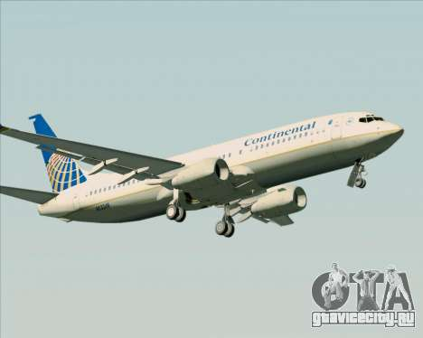 Boeing 737-800 Continental Airlines для GTA San Andreas вид справа