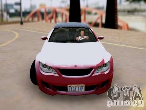 Übermacht Zion Cabrio GTA V для GTA San Andreas вид сзади слева
