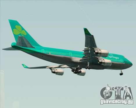 Boeing 747-400 Aer Lingus для GTA San Andreas вид справа