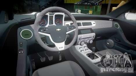Chevrolet Camaro Z28 2014 для GTA 4 вид сзади