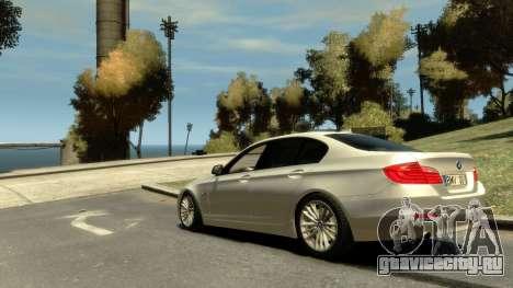 BMW 525 F10 для GTA 4 вид слева