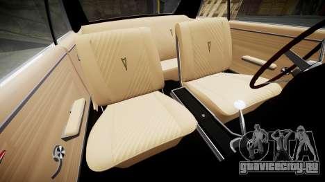 Pontiac GTO 1965 Flames для GTA 4 вид изнутри