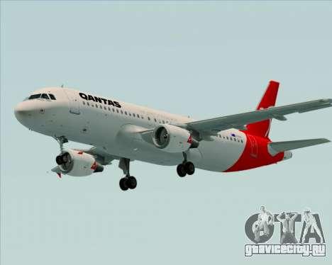 Airbus A320-200 Qantas для GTA San Andreas вид снизу