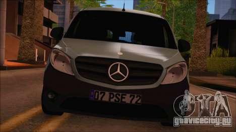 Mercedes-Benz Citan Stock 2013 для GTA San Andreas вид сзади слева
