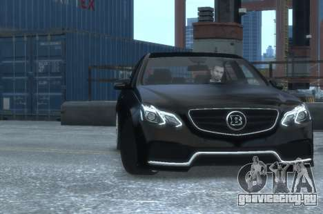 Mercedes-Benz E63 BRABUS 850 для GTA 4 вид изнутри