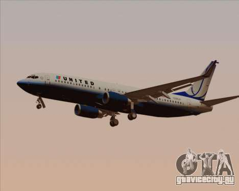 Boeing 737-800 United Airlines для GTA San Andreas салон
