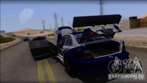 BMW M3 E46 GTR для GTA San Andreas вид снизу