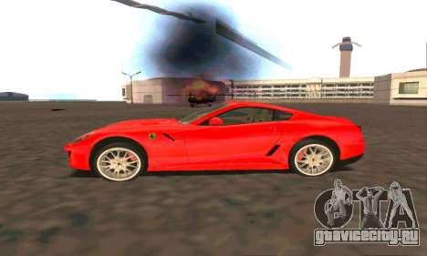 Ferrari 599 Beta v1.1 для GTA San Andreas вид слева
