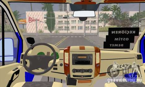 Mercedes-Benz Sprinter Ostim Dolmus для GTA San Andreas вид справа