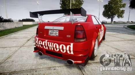 Albany Presidente Racer [retexture] Redwood для GTA 4 вид сзади слева