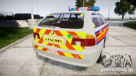 BMW 525i E39 Touring Police [ELS] JSARVV для GTA 4 вид сзади слева