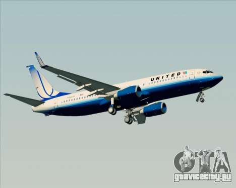 Boeing 737-800 United Airlines для GTA San Andreas колёса