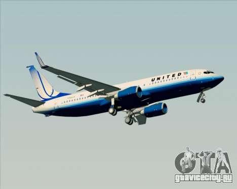Boeing 737-800 United Airlines для GTA San Andreas колёса