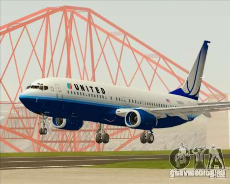 Boeing 737-800 United Airlines для GTA San Andreas
