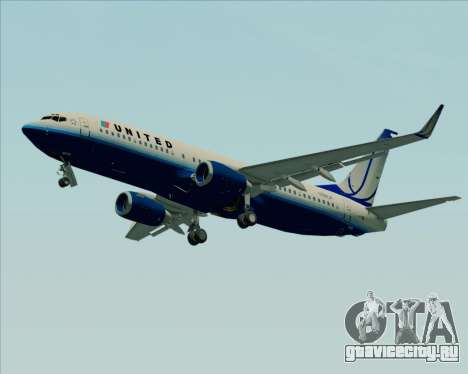Boeing 737-800 United Airlines для GTA San Andreas вид слева