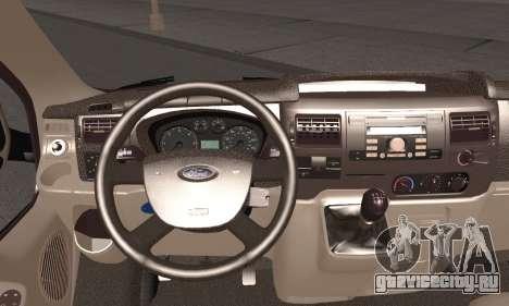 Ford Transit для GTA San Andreas вид сзади слева