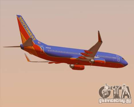 Boeing 737-800 Southwest Airlines для GTA San Andreas вид справа