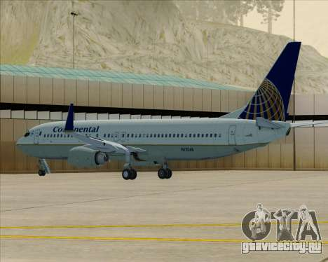 Boeing 737-800 Continental Airlines для GTA San Andreas вид снизу
