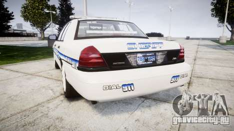 Ford Crown Victoria [ELS] Liberty County Sheriff для GTA 4 вид сзади слева