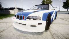 BMW M3 E46 GTR Most Wanted plate Liberty City для GTA 4