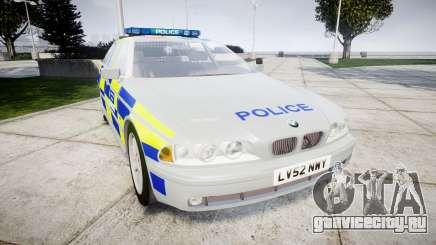 BMW 525i E39 Touring Police [ELS] BTV для GTA 4