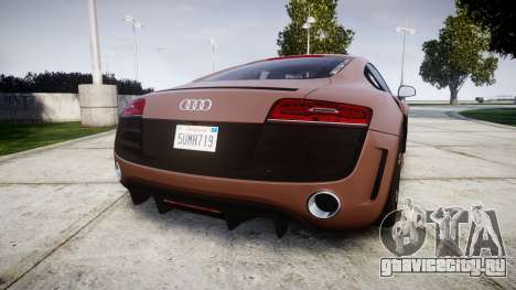 Audi R8 plus 2013 Wald rims для GTA 4 вид сзади слева