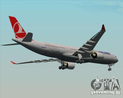 Airbus A330-300 Turkish Airlines для GTA San Andreas вид изнутри