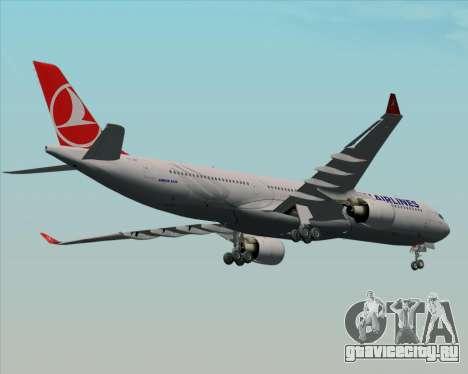 Airbus A330-300 Turkish Airlines для GTA San Andreas вид изнутри