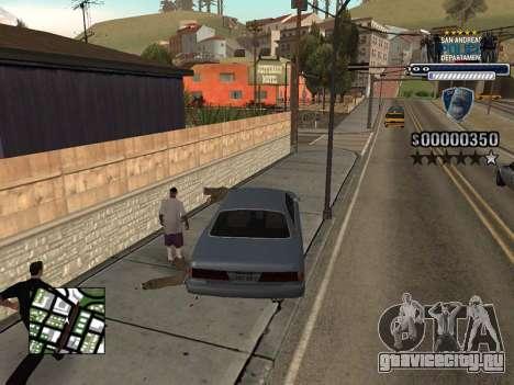 Police HUD для GTA San Andreas четвёртый скриншот